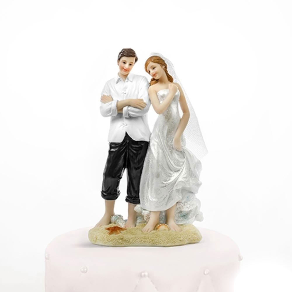 Matrimonio Tema Spiaggia : Centro torta matrimonio tema mare sposi in spiaggia per