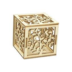 scatoline cubo portaconfetti in legno albero della vita