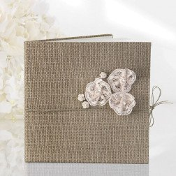 guest book 22 pag. shabby chic in juta