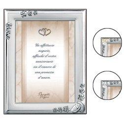 porta foto argento 13x18 cm per matrimonio nozze oro e argento