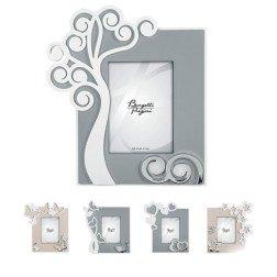 Portafoto Moderni stilizzati Tortora e Grigio con argento 13x18