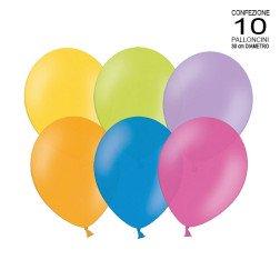 confezione 10 palloncini colorati assortiti 30 cm