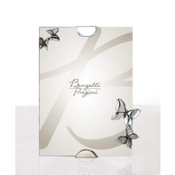 bomboniera portafoto dritto con applicazione farfalle in argento