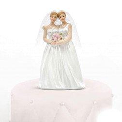 cake topper spose gay donne per centro torta matrimonio