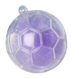 scatolina portaconfetti in plexiglass pallone da calcio trasparente