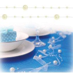 ghirlanda con perle avorio per decorazioni