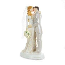 cake topper eleganti sposi che si baciano