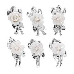 bomboniere tralcio fiore porcellana argento