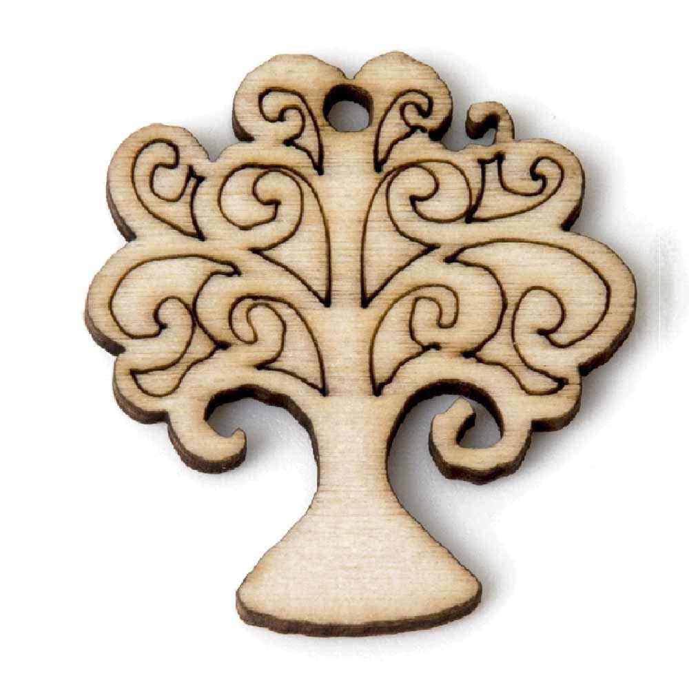 ciondolo albero della vita in legno naturale per