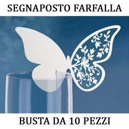 10 pezzi segnaposto farfalla per bicchiere