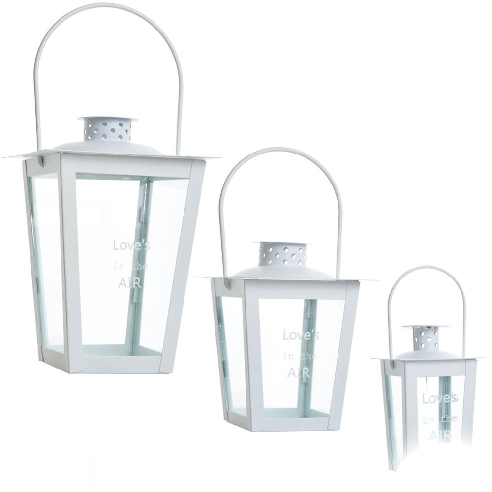 Bomboniere lanterne bianche metallo e vetro con scritta for Lanterne bianche