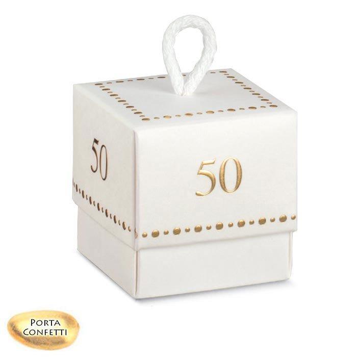 Scatole Bomboniere Matrimonio.Scatoline Portaconfetti Nozze Oro 50 Anniversario