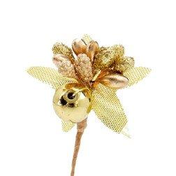 pick bacche decorazioni oro per bomboniere fai da te