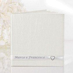 guest book avorio 22 pag. personalizzato