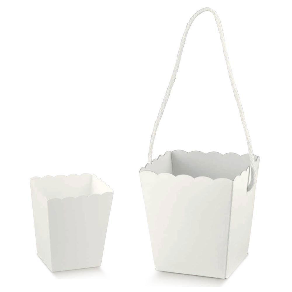 Super vaso contenitore per confettata in cartoncino bianco RF08