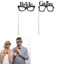 """2 occhiali """"sposo-sposa"""" per fotografie"""