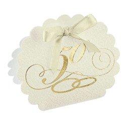 scatolina porta confetti nozze oro 50° anniversario