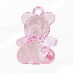 orso pendaglio rosa