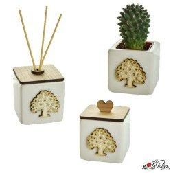 bomboniere albero della vita scatolina, profumatore, vaso portapiantina grassa