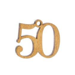 ciondolo numero 50 per bomboniere nozze oro