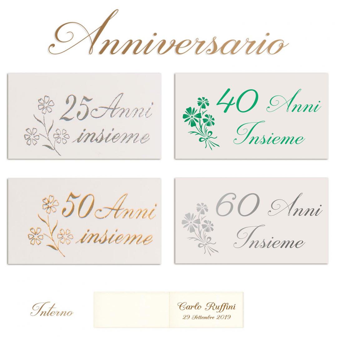 Segnaposto Con Nome Da Stampare bigliettini bomboniere anniversario nozze argento, oro,