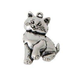 ciondolo gatto in metallo per bomboniere