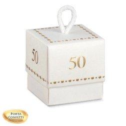 scatoline portaconfetti nozze oro 50° anniversario Matrimonio numero 50 oro