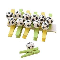 mollette con pallone da calcio confezione 12 pezzi