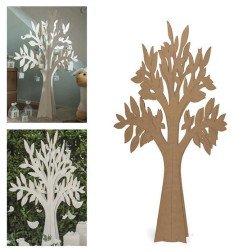 albero della vita in cartone marrone per tableau e allestimenti 120 cm