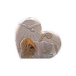 applicazione placca cuore cresima per bomboniere