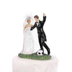 centro torta matrimonio sposo calciatore con pallone