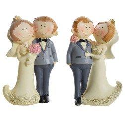 CAKE TOPPER coppia sposi simpatici