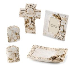 bomboniere comunione con simbolo calice effetto pietra made in italy