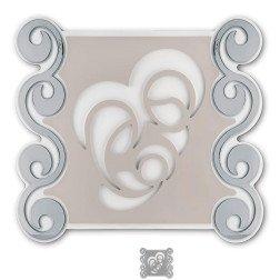 capoletto moderno sacra famiglia ceramica con decori argento