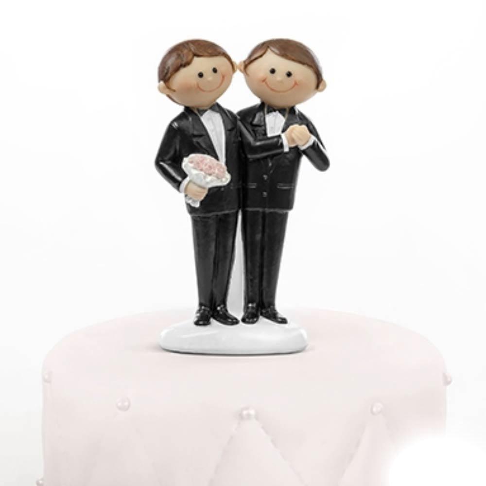 Conosciuto cake topper sposi gay simpatici per centro torta RN01