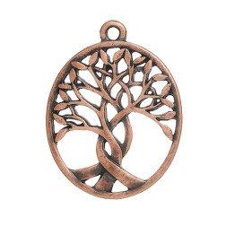 ciondolo albero della vita per bomboniere metallo color rame