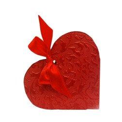 10 scatoline porta confetti a cuore con nastro rossa