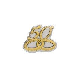 applicazione argento numero 50 anniversario nozze oro piccola