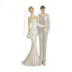 cake topper eleganti sposi abbracciati