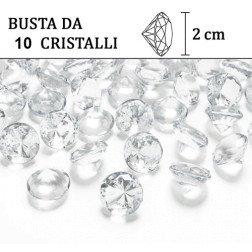 busta 10 cristalli grandi per decorazione