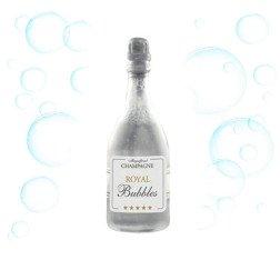 bolle di sapone bottiglia di champagne