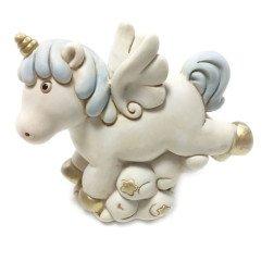 salvadanaio unicorno celeste