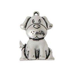 ciondolo cagnolino in metallo per bomboniere