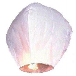 lanterna cinese volante tonda bianca