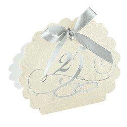 scatolina porta confetti 25° anniversario nozze argento