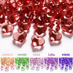 crystalli cuori per decorazioni vari colori
