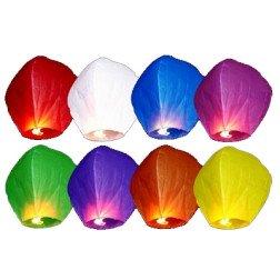 10 pz lanterne volanti colori assortiti
