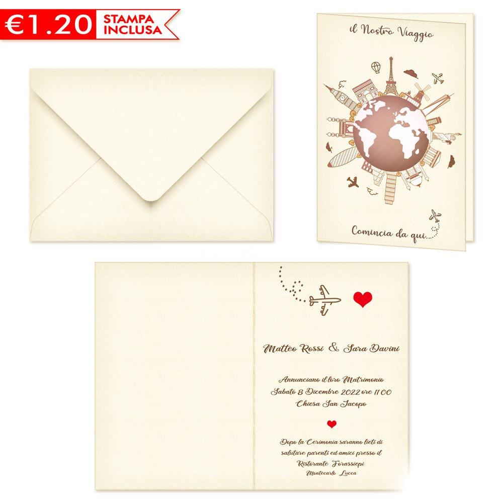 Partecipazioni Matrimonio Da Compilare E Stampare.Partecipazione Matrimonio Tema Viaggio 2020 Stampa