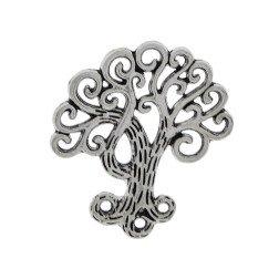ciondolo albero della vita per bomboniere in metallo stilizzato