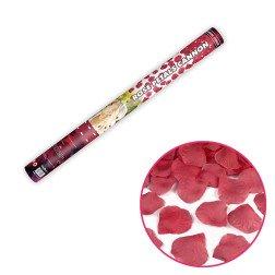 cannone sparacoriandoli 60 cm petali rossi